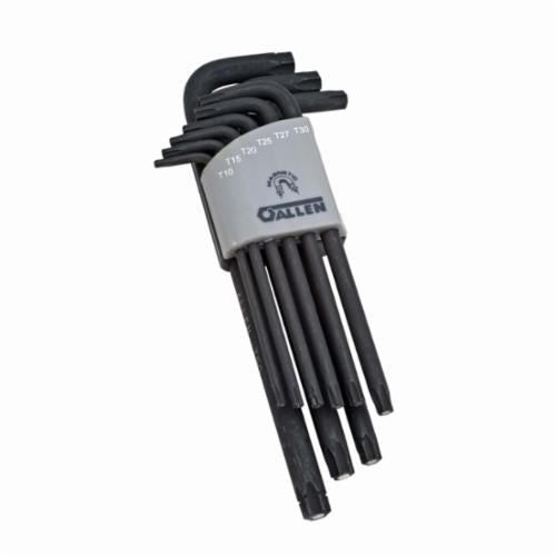 Allen 56644G Metal Fold-Up Metric Hex Key Set, 6 Pieces, Alloy Steel