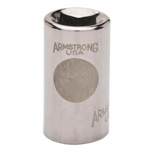 Armstrong 10-410 Standard Length Drive Socket, Imperial, 5/16 in 8 Point Socket, 1/4 in Square Drive