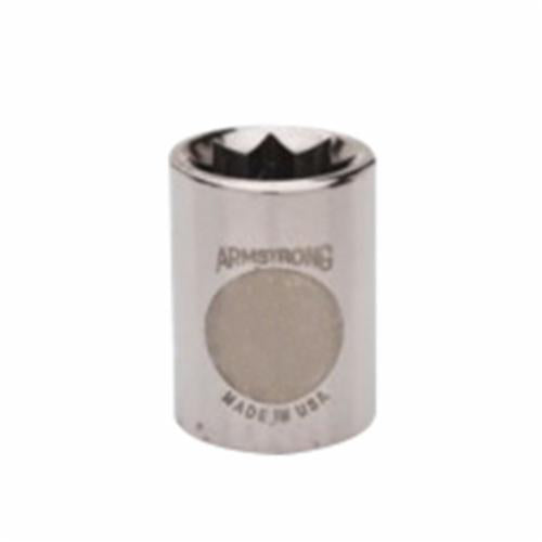 Armstrong 11-420 Standard Length Drive Socket, Imperial, 5/8 in 8 Point Socket, 3/8 in Square Drive