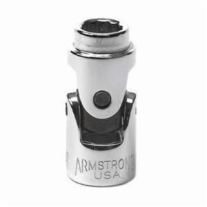 Armstrong 11-514 Standard Length, Universal Drive Socket, Imperial, 7/16 in 12 Point Socket, 3/8 in Square Drive