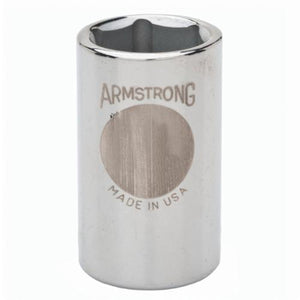 Armstrong 12-020 Standard Length Drive Socket, Imperial, 5/8 in 6 Point Socket, 1/2 in Square Drive