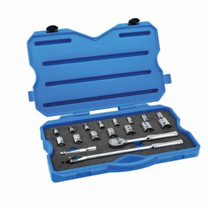 Armstrong 15-530 Standard Length Mechanics Tool Set, Imperial, 18 Pieces, 1/2 in Drive, 6 Point, High Alloy Steel