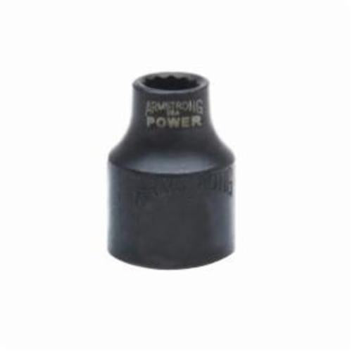 Armstrong 19-108 Standard Length Drive Socket, Imperial, 1/4 in 12 Point Socket, 3/8 in