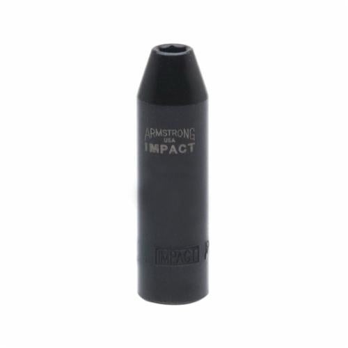 Armstrong 19-722 Deep Length SAE Impact Socket, 11/16 in Socket, 3/8 in Drive, 2.795 in OAL, High Alloy Steel, 6 Points