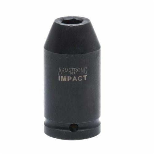 Armstrong 21-236 Deep Length SAE Impact Socket, 1-1/8 in Socket, 3/4 in Drive, 3-1/4 in OAL, High Alloy Steel, 6 Points