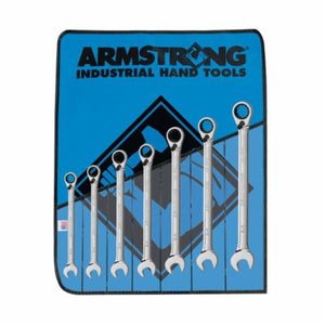 Armstrong 28-900 Open/Box End Combination Wrench Set, 7 Pieces, Full Polished