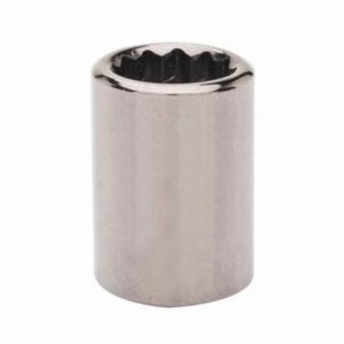 Armstrong 38-118 Standard Length Drive Socket, Metric, 18 mm 12 Point Socket, 3/8 in Square Drive