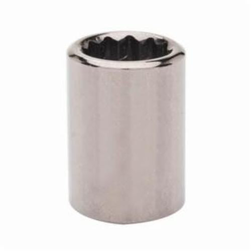 Armstrong 38-117 Standard Length Drive Socket, Metric, 17 mm 12 Point Socket, 3/8 in Square Drive