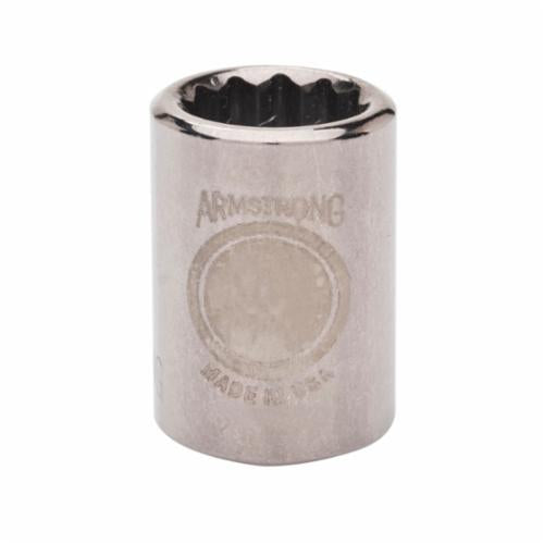 Armstrong 38-113 Standard Length Drive Socket, Metric, 13 mm 12 Point Socket, 3/8 in Square Drive