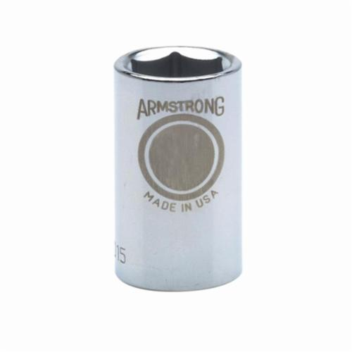 Armstrong 39-029 Standard Length Drive Socket, Metric, 29 mm 6 Point Socket, 1/2 in Square Drive
