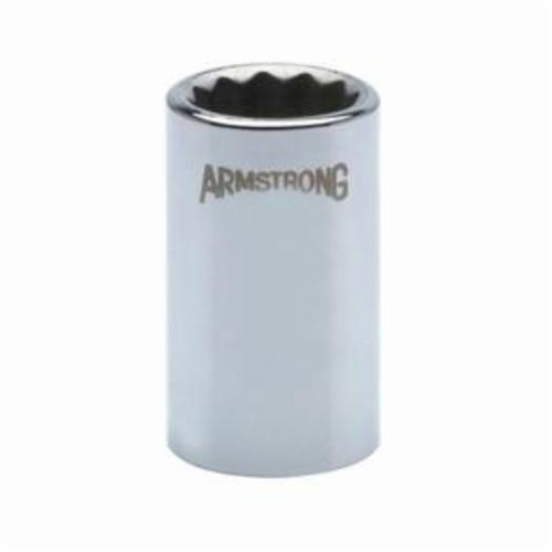 Armstrong 39-115 Standard Length Drive Socket, Metric, 15 mm 12 Point Socket, 1/2 in Square Drive