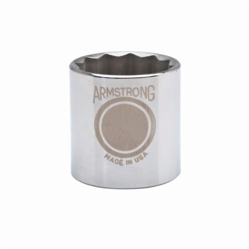 Armstrong 39-124 Standard Length Drive Socket, Metric, 24 mm 12 Point Socket, 1/2 in Square Drive