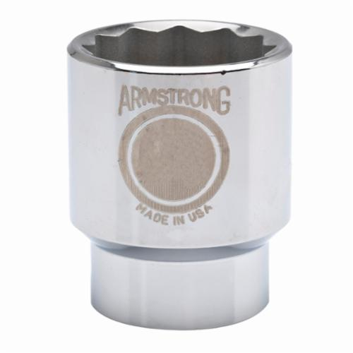 Armstrong 40-124 Standard Length Drive Socket, Metric, 24 mm 12 Point Socket, 3/4 in Square Drive