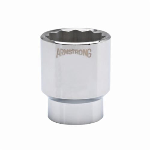 Armstrong 40-138 Standard Length Drive Socket, Metric, 38 mm 12 Point Socket, 3/4 in Square Drive