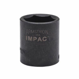 Armstrong 47-020 Metric Standard Length Impact Socket, 20 mm Socket, 1/2 in Drive, 1.614 in OAL, High Alloy Steel
