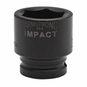 Armstrong 48-019 Metric Standard Length Impact Socket, 19 mm Socket, 3/4 in Drive, 1.874 in OAL, High Alloy Steel