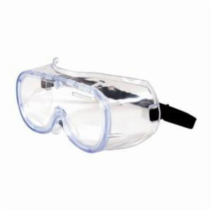 552 Softsides, 248-5290 OTG Single Protective Goggle, Universal, Non-Ventilated Clear Frame, Clear Lens