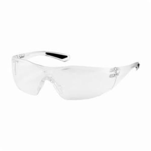 250-49-0020 One Piece Safety Glasses, Universal, Rimless Clear Frame, Anti-Fog Clear Lens