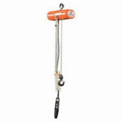 2005 Double Reeved Electric Chain Hoist, 600 lb Load, 6-1/2 ft Chain/Rope, 20 ft Lifting Height, 1/6 hp