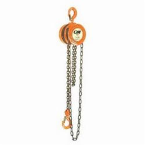 2223 Hand Chain Hoist, 3 ton Load, 15 ft Lifting Height, 21-29/32 in, 1-5/16 in Hook, 65 lb