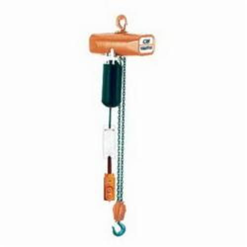 2403B Single Reeved Electric Chain Hoist, 1/2 ton Load, 5 ft Chain/Rope, 15 ft Lifting Height, 1/2 hp