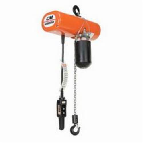 2732 Single Reeved Electric Chain Hoist, 1/4 ton Load, 10 ft Lifting Height, 1/2 hp, 115 V, 1 Phase, 60 Hz