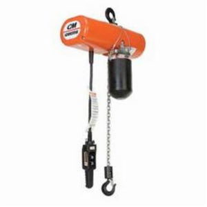 3502 Single Reeved Electric Chain Hoist, 1/2 ton Load, 10 ft Lifting Height, 1 hp, 230 V, 3 Phase, 60 Hz