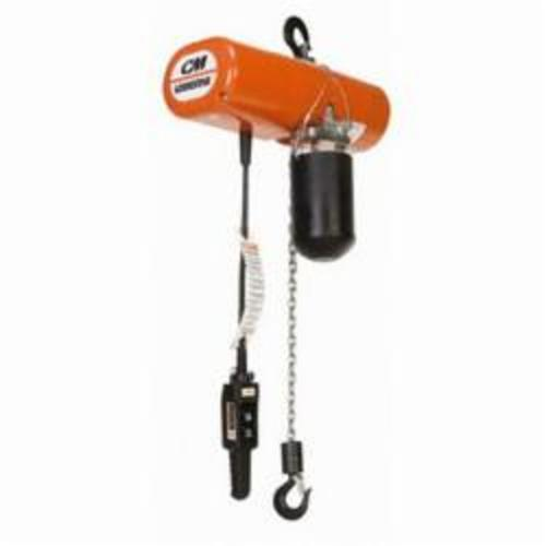 3535 Double Reeved Electric Chain Hoist, 2 ton Load, 6 ft Chain/Rope, 10 ft Lifting Height, 1 hp