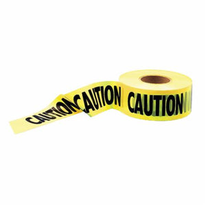 14995 Heavy Duty Barricade Safety Tape, Caution, 1000 ft L x 3 in W, Yellow, Polyethylene