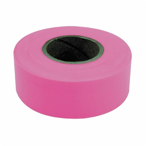 17003 Flagging Tape, 150 ft L x 1-3/16 in W, Fluorescent Pink, PVC