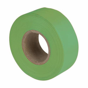 17004 Flagging Tape, 150 ft L x 1-3/16 in W, Fluorescent Green, PVC