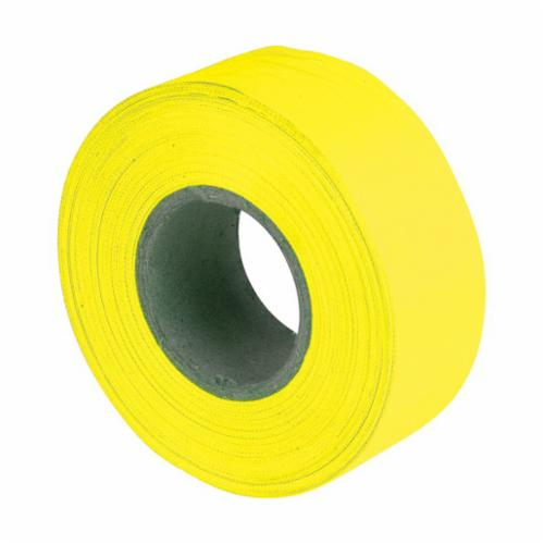 17005 Flagging Tape, 150 ft L x 1-3/16 in W, Fluorescent Yellow, PVC