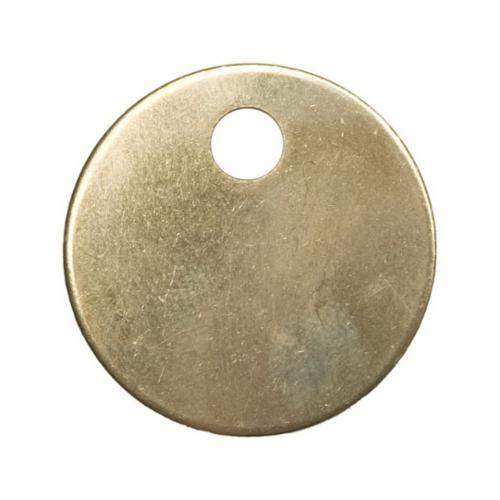 41857 Round Blank Tag, 1-1/2 in W, 3/16 in, 18 ga Brass