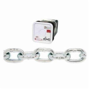 Campbell 0143426 System 3 Welded Proof Coil Chain, Single Loop, 1/4 in Trade, 1300 lb Load, 30 Grade