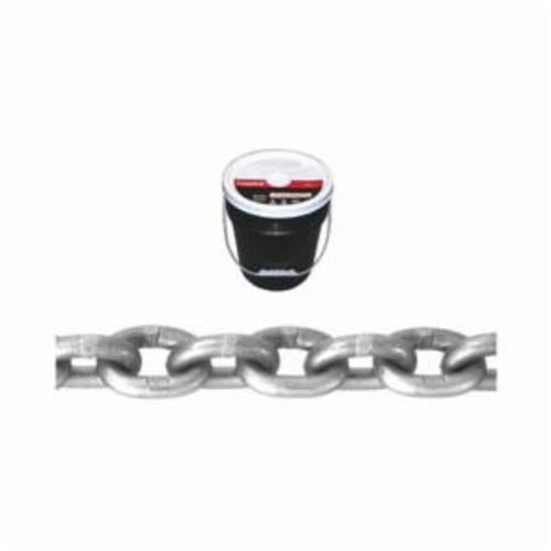 Campbell 0181423 System 4 Welded Proof High Test Chain, Single Loop, Straight Link, 1/4 in Trade, 2600 lb Load