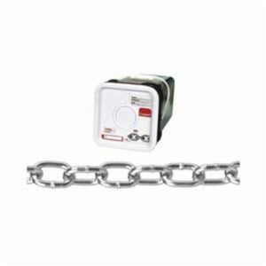 Campbell 0309526 Welded Proof Chain, Passing, Single Loop, Straight Link, 2/0 Trade, 450 lb Load, 200 ft L