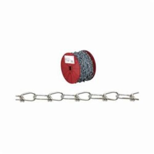 Campbell 0726427 Weldless Inco Chain, Double Loop, Straight Link, 3/0 Trade, 305 lb Load, 150 ft L