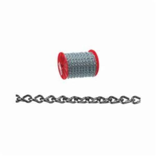 Campbell 0721627 Welded Double Jack Chain, Single Loop, Straight Link, #16 Trade, 11 lb Load, 200 ft L