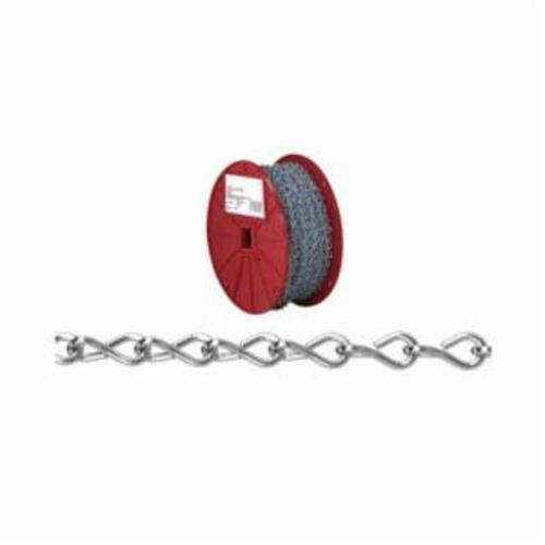Campbell 0721727 Welded Single Jack Chain, Single Loop, Straight Link, #12 Trade, 29 lb Load, 100 ft L