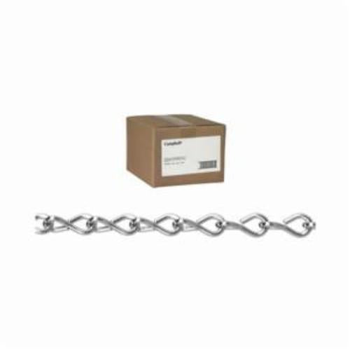 Campbell 0801024 Weldless Single Jack Chain, Single Loop, Twisted Link, #10 Trade, 43 lb Load, 100 ft L
