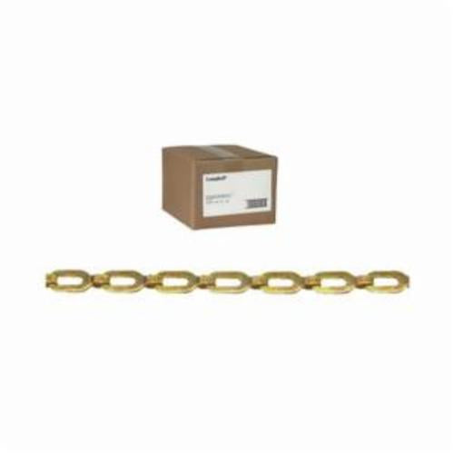Campbell 0872014 Weldless Plumber's Chain, Single Loop, Straight Link, 2/0 Trade, 23 lb Load, 100 ft L