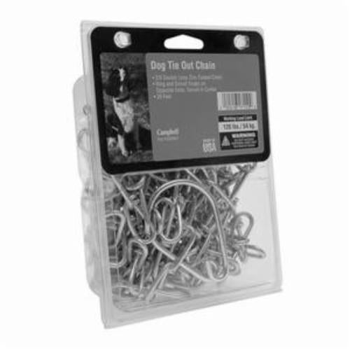 Campbell 3209507 Tie Out Chain, Low Carbon Steel