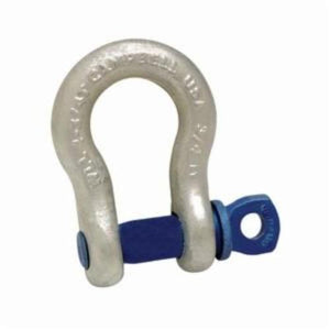 Campbell 5410735 Anchor Shackle, 1-1/2 ton Load, 7/16 in, 1/2 in Screw Pin, 23/32 in Opening, Galvanized