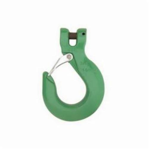 Campbell 5746695 Sling Hook With Latch, 3/8 in Trade, 8800 lb Load, 100 Grade, Jaws and Clevis Attachment