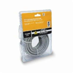 Campbell 5977020 Coated Cable, 3/16 in, 25 ft L, 7 x 19 Strand 840 lb, Galvanized Steel
