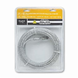 Campbell 5977610CBL Coated Cable With Swaged Eye On One End, 1/8 in, 100 ft L, 7 x 7 Strand 340 lb