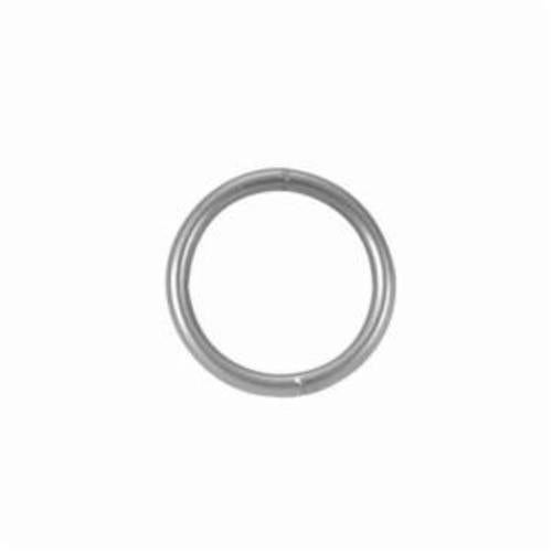 Campbell 6052814 Welded Ring, 1/2 to 2-1/2 in Trade, 1400 lb Load, Low Carbon Steel, Bright
