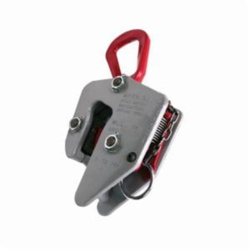 Campbell 6420701 Locking E Plate Clamp, 3 ton Load, 0 - 1-1/4 in Jaw, 7-1/4 in W, Forged Steel, Load Activated