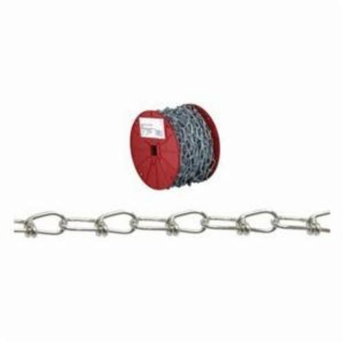 Campbell AW0751024 Inco Chain, Double Loop Link, 1/0 Trade, 200 lb Load, 100 ft L
