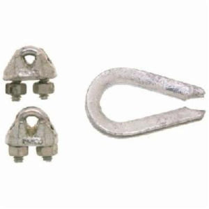 Campbell B7675119 Import Wire Rope Clip Set, 3/16 in, Malleable Iron, 2